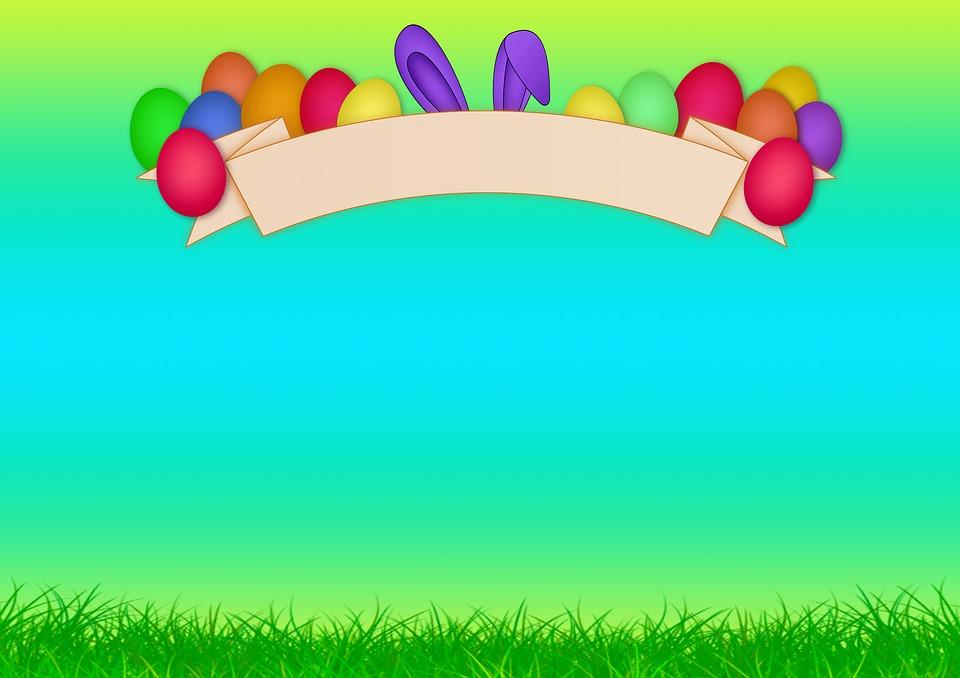 Easter, Egg, Banner, Rabbit Ears, Ears, Happy Easter