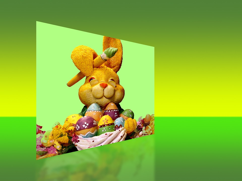 Easter Bunny, Easter, Easter Eggs, Image, Graphic