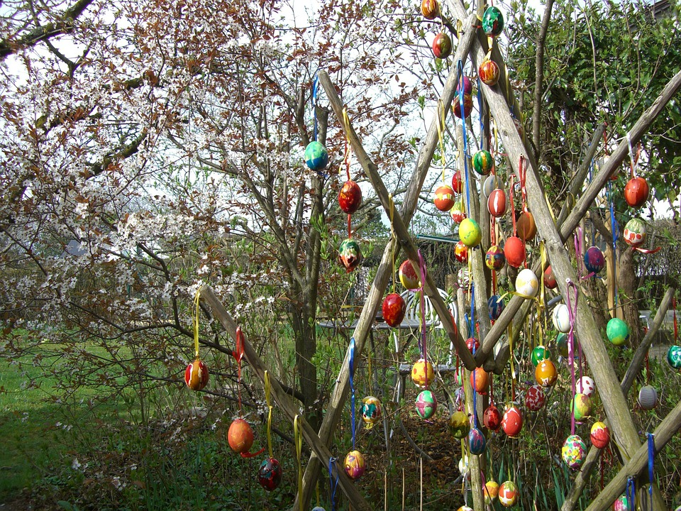 Easter Tree, Easter Eggs, Easter, Colorful