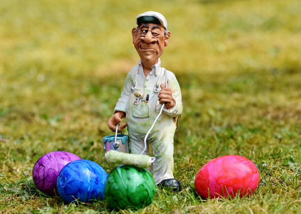 Painter, Lackierer, Figure, Easter Egg, Egg, Paint