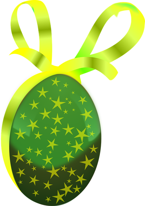 Egg, Gift, Easter, Easter Egg, Green, Ribbon