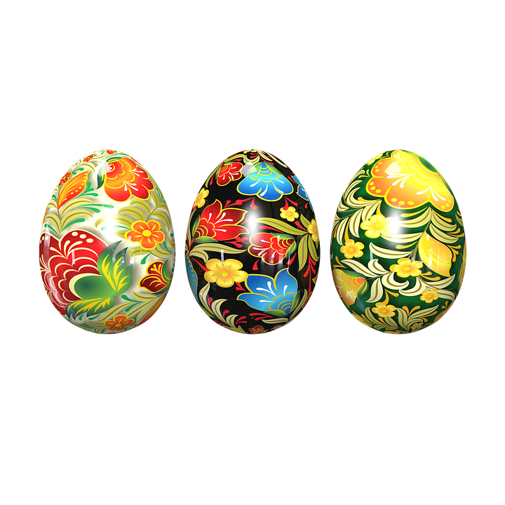 Easter Eggs, Of Chickens, Painted Eggs