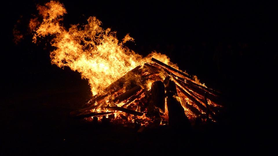 Easter Fire, Fire, Flame, Wood Fire, Blaze