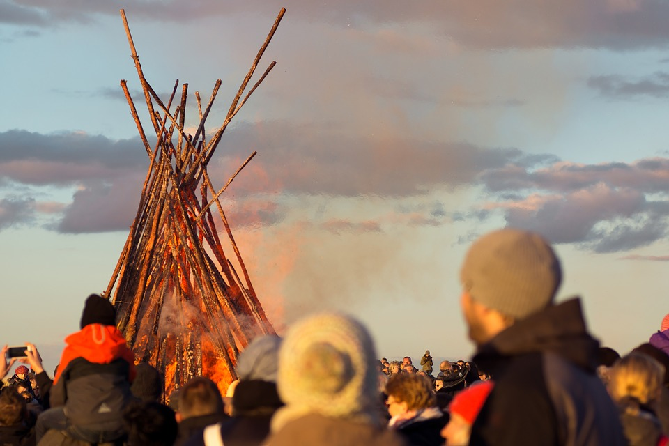 Human, Sunset, Sky, Easter Fire, Mass, Event, Fire