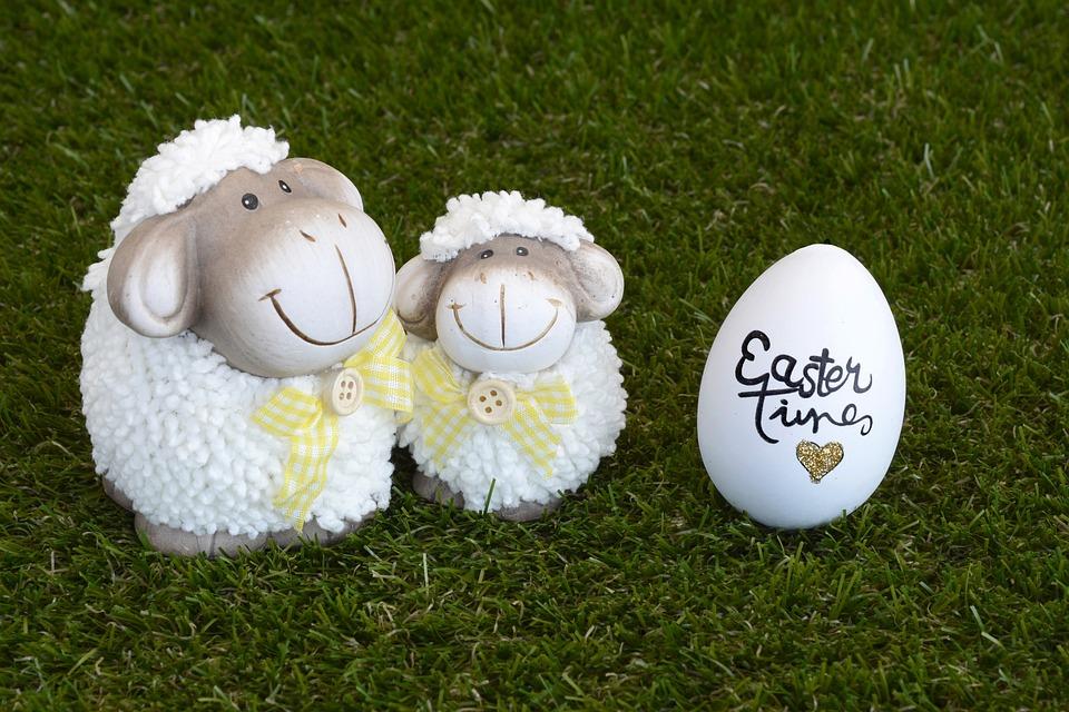 Sheep, Easter, Easter Egg, Decoration, Easter Greeting