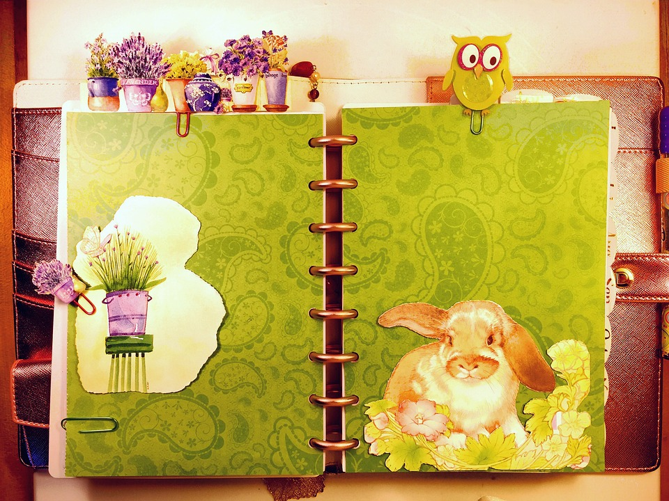Spring, Planner, Bunny, Easter, Hand Made