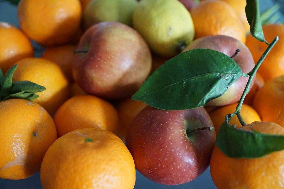 Apple, Fruit, Colorful, Eat, Leaf, Mandarin, Healthy
