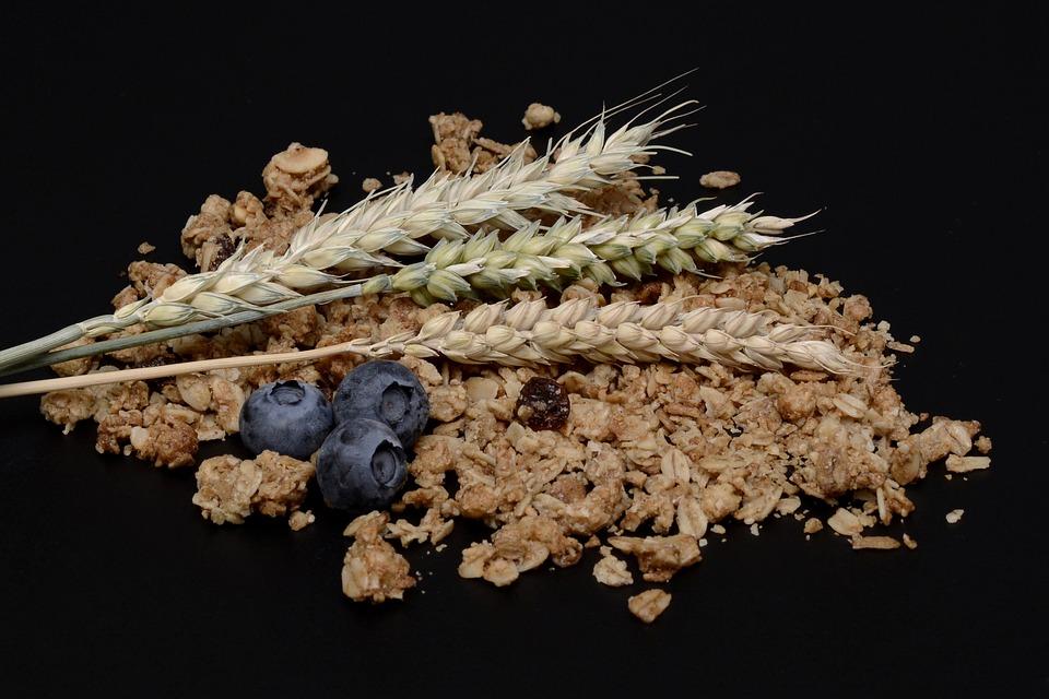 Muesli, Granola, Blueberries, Grain, Cereals, Eat