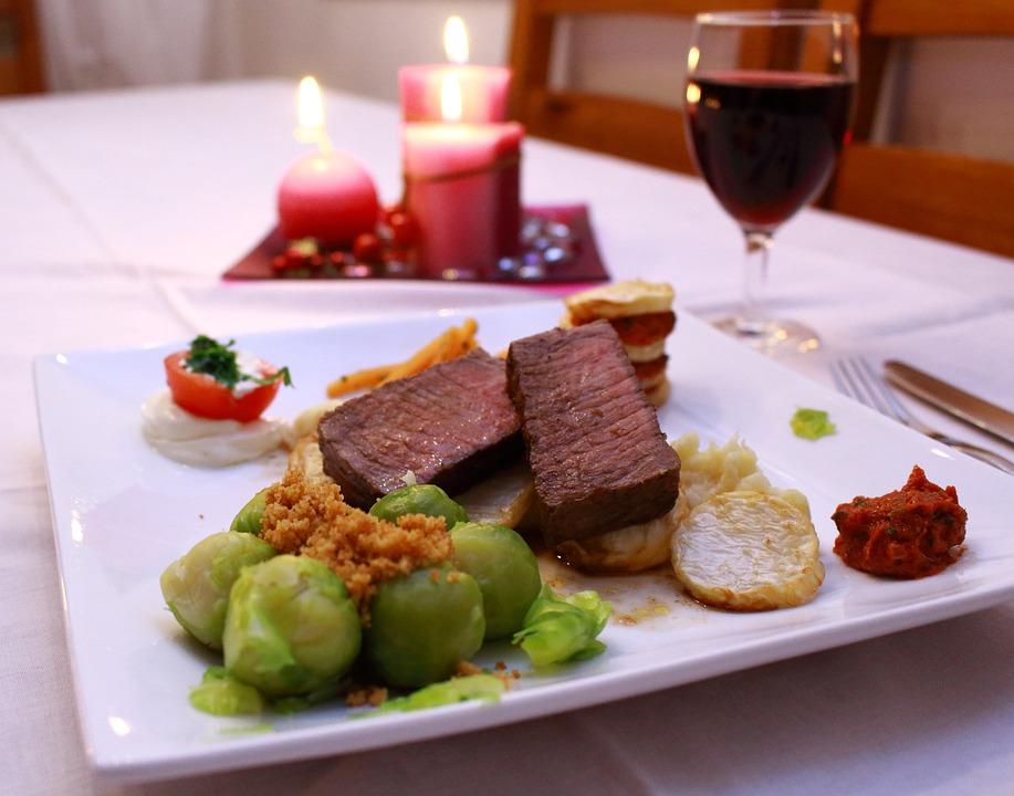 Steak, Beef, Fillet, Meat, Eat, Drink, Wine, Food
