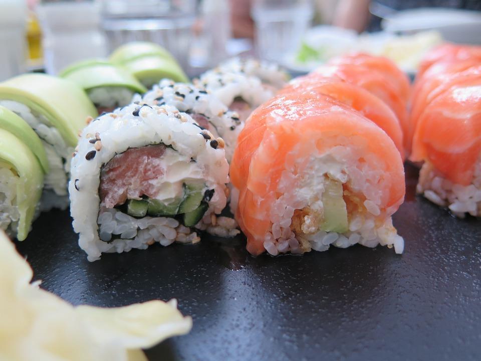 Sushi, Dinner, Eat, Japanese, Food, Seafood, Fish, Rice