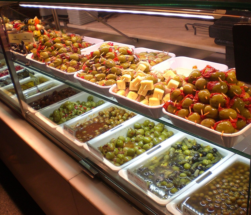 Antipasti, Olives, Counter, Eat, Food, Nutrition