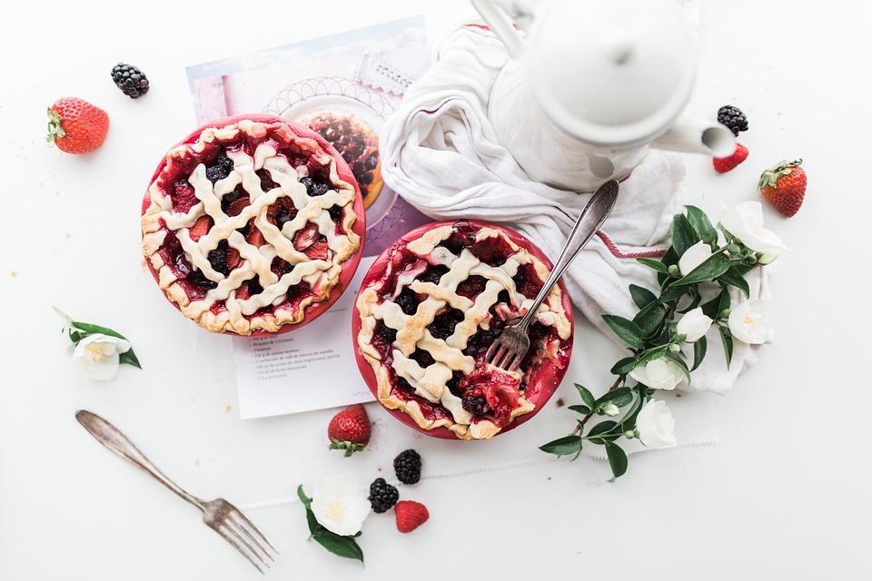 Food, Eat, Gourmet, Strawberry, Pies, Fruits, Flowers
