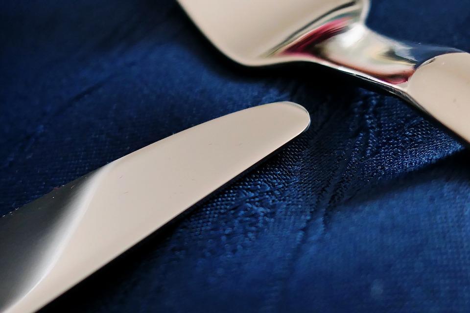 Cutlery, Knife, Spoon, Eat, Restaurant, Gastronomy