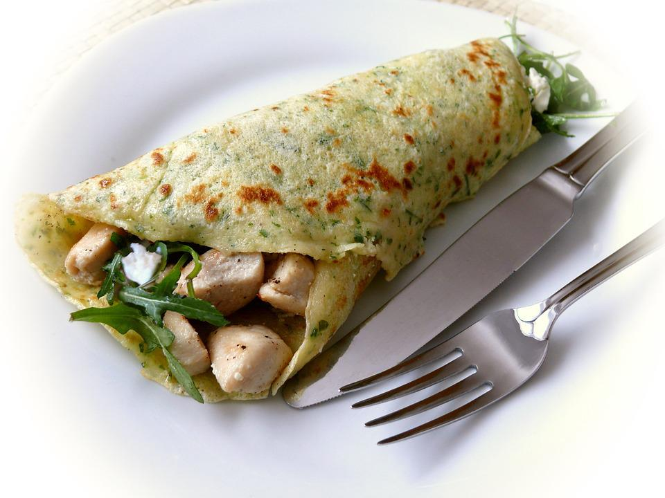 Pancake, Crêpes, Filled, Eat, Hearty