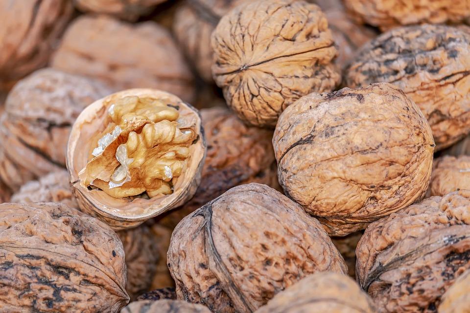 Nuts, Walnuts, Fruit Bowl, Brown, Eat, Food, Nutrition
