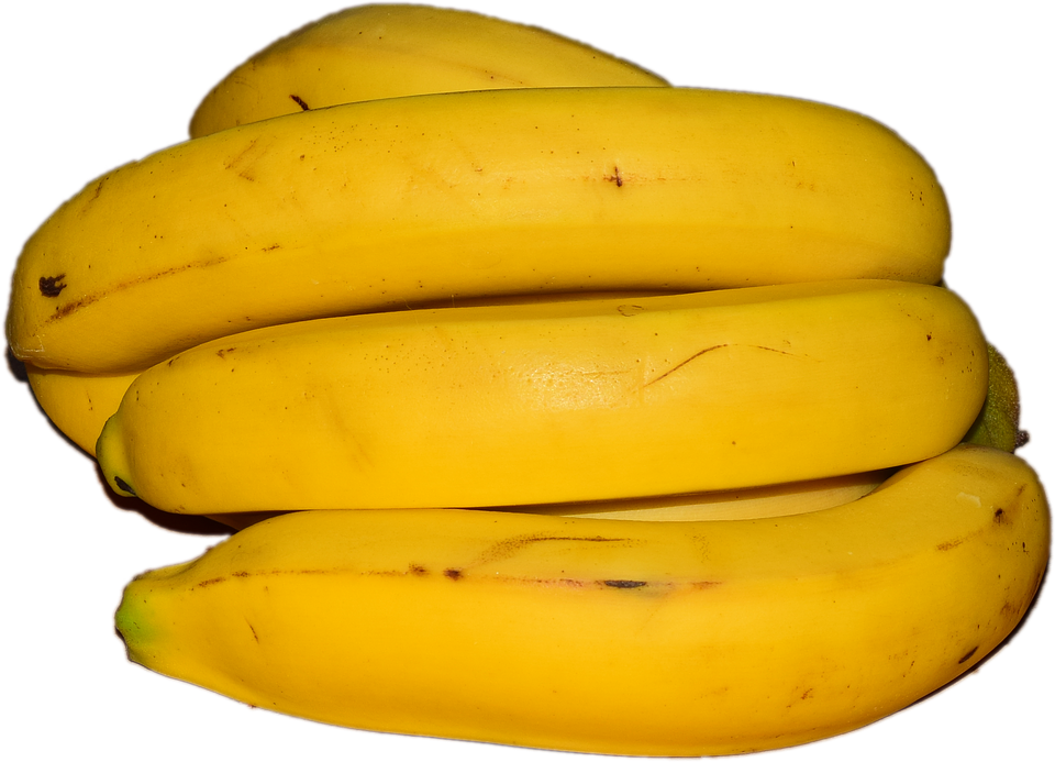 Banana, Yellow, Food, Healthy, Eat, Isolated, Tropical