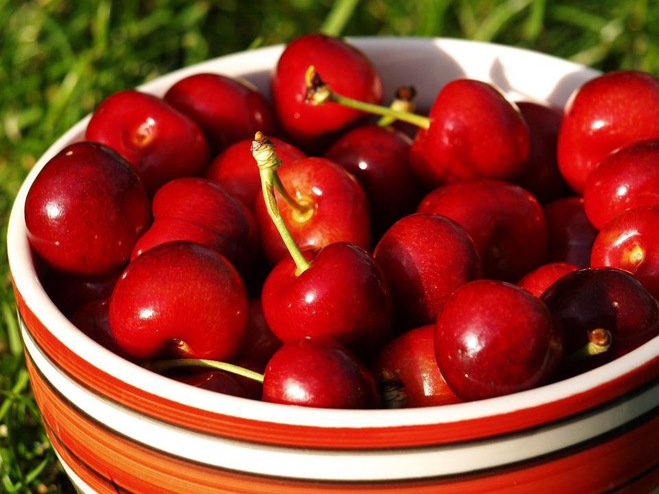 Eating, Fruit, Healthy, Cherry, The Freshness, The Bowl