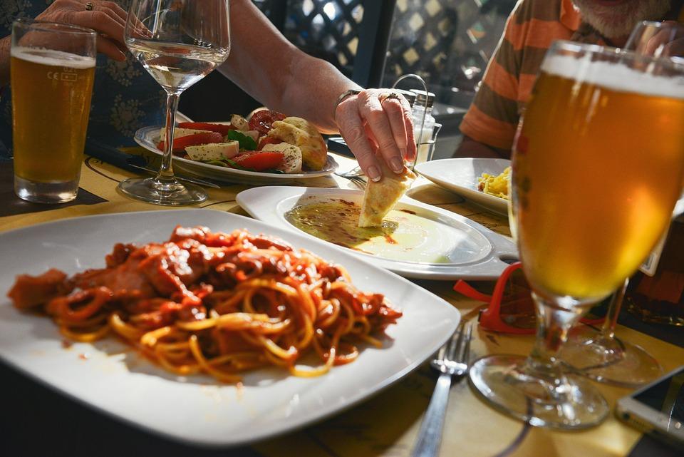 Dinner, Table, Eating, Food, Meal, Restaurant, Plates