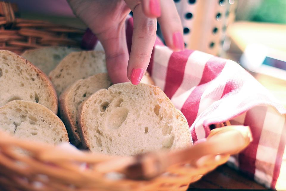 Bread, Sliced, Slices, Hand, Grabbing, Eating, Food