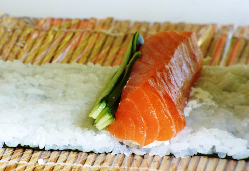 Eating, Sushi, Food, Health, Rice, Sesame, Salmon, Fish