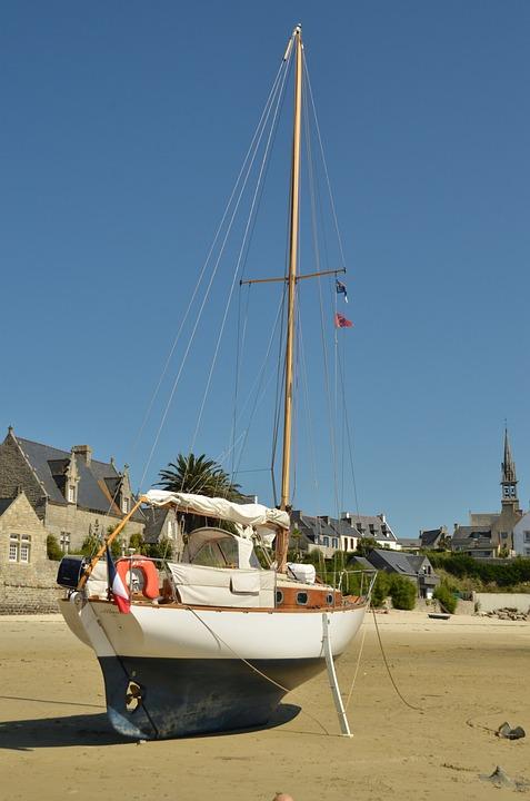 Port, Eb, Tide, Boat, Recorded, Anchor, île De Batz