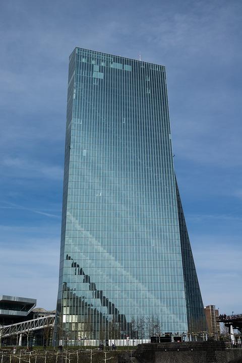 Ecb, Frankfurt, Architecture, City, Sky, Modern