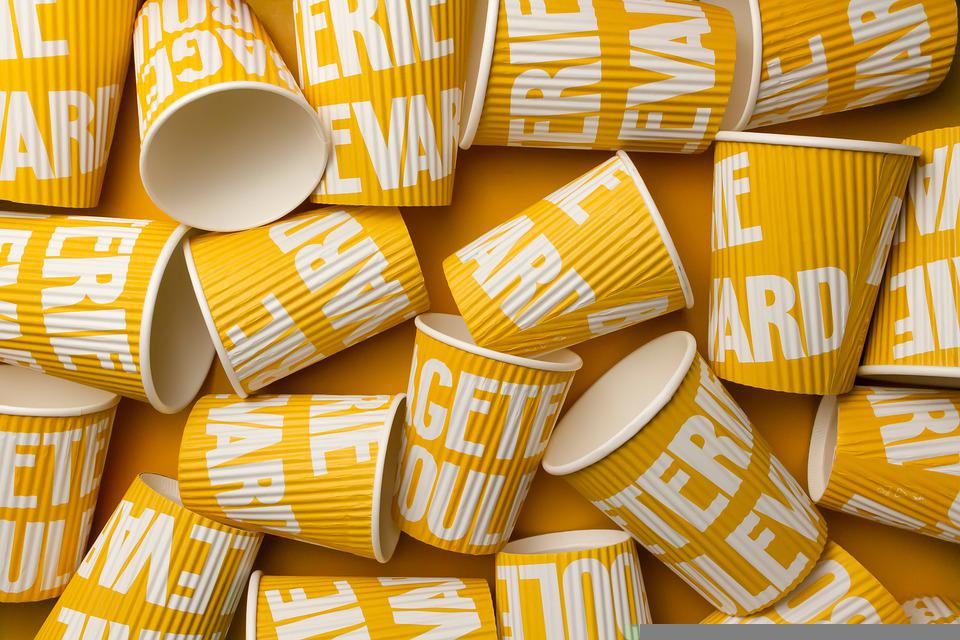 Yellow Cups, Paper Cups, Eco-friendly Cups