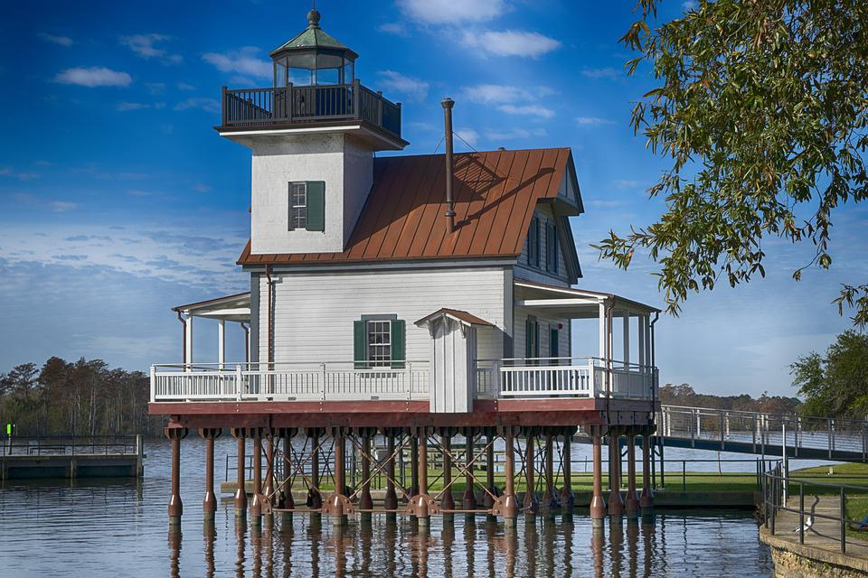 Old Lighthouse, Edenton, Water