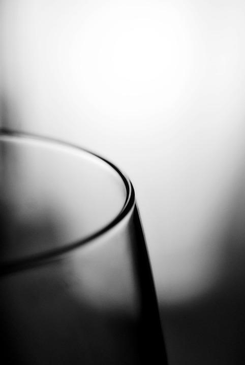 Glass, Edge, Black And White