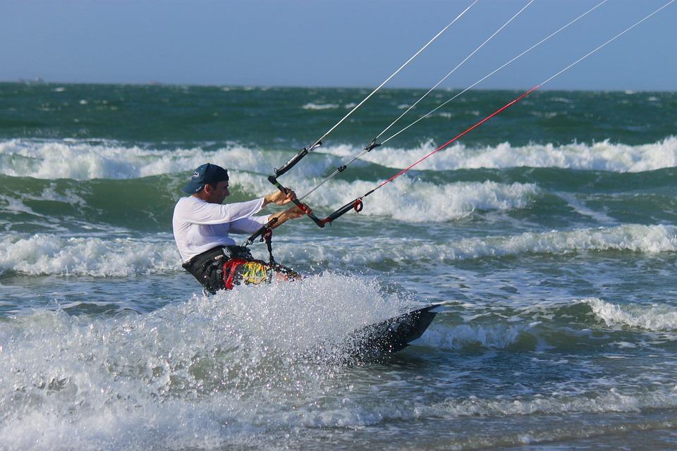 Kitesurfing, Sea, Sport, Water, Surf, Edge Of The Sea