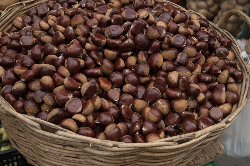 Chestnut, Market, Fruit, Maroni, Eat, Edible