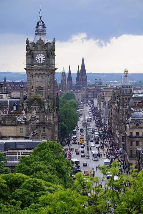 Edinburgh, Scotland, City, Balmoral Hotel, Clock Tower