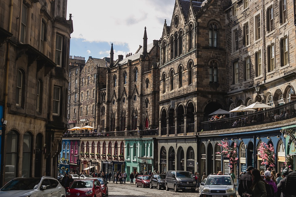 Victoria, Street, Victoria Street, Edinburgh, Scotland