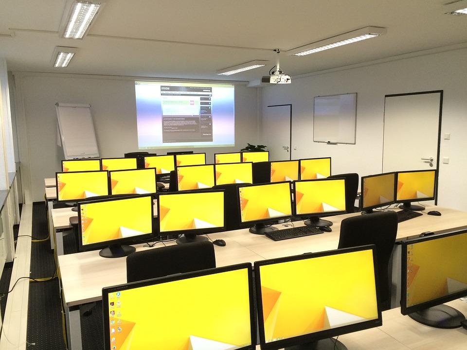 Classroom, Computers, Education, Class
