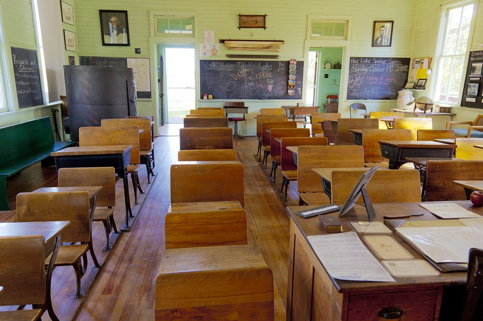Classroom, Old, One-room, School, Education, Class