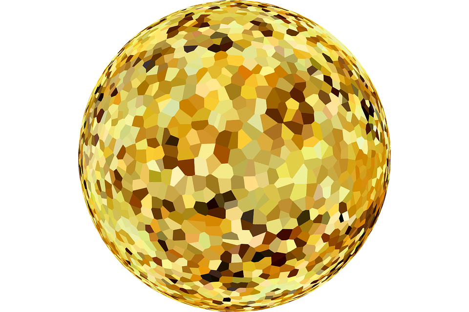 Graphic, Deco, Gold, Isolated, Effect
