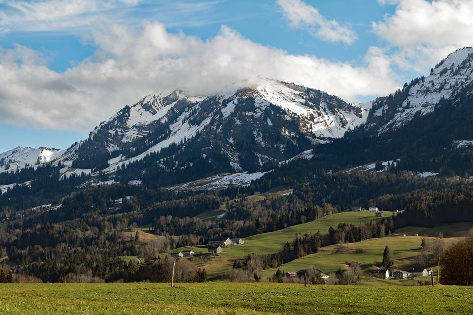 Alpine, Austria, Vorarlberg, Egg, Tobel, Mountains