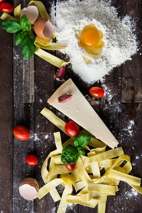 Pasta, Cheese, Egg, Food, Italian, Cuisine, Meal