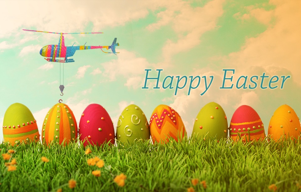 Easter, Helicopter, Egg, Photo, Manipulation, Cloud