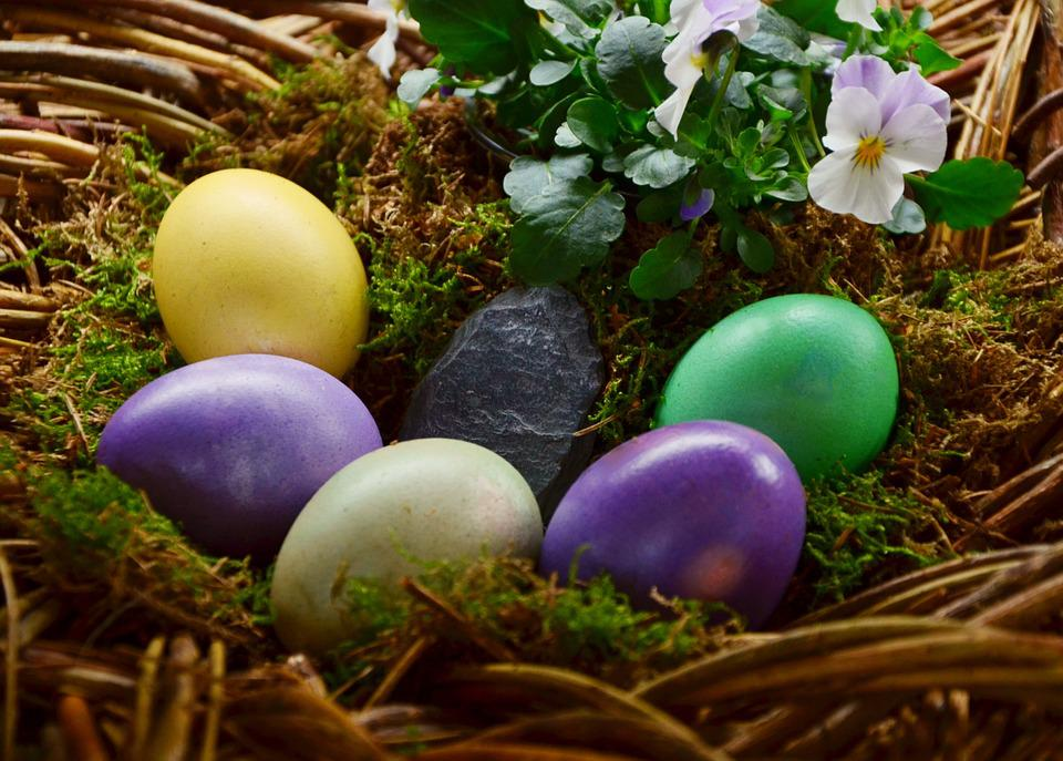 Easter Eggs, Egg, Colored, Easter Nest, Painted