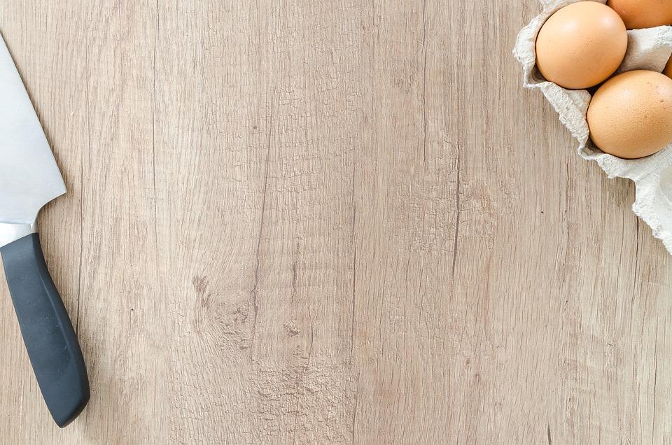 Knife, Wood, Food, Table, Background, Egg, Wooden