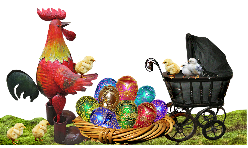 Easter, Eggs, Rooster, Chickens, Celebration