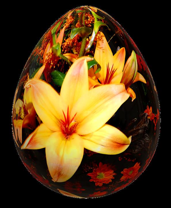 Egg, Easter, Easter Eggs, Flowers, Eggs, Festival
