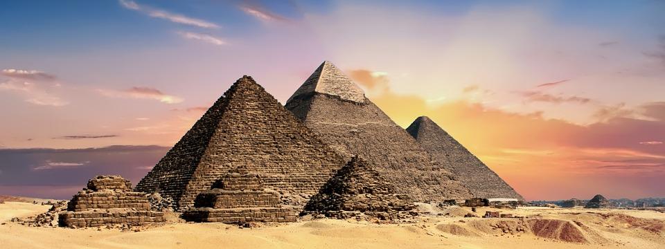 Pyramids, Egypt, Egyptian, Ancient, Desert, Giza