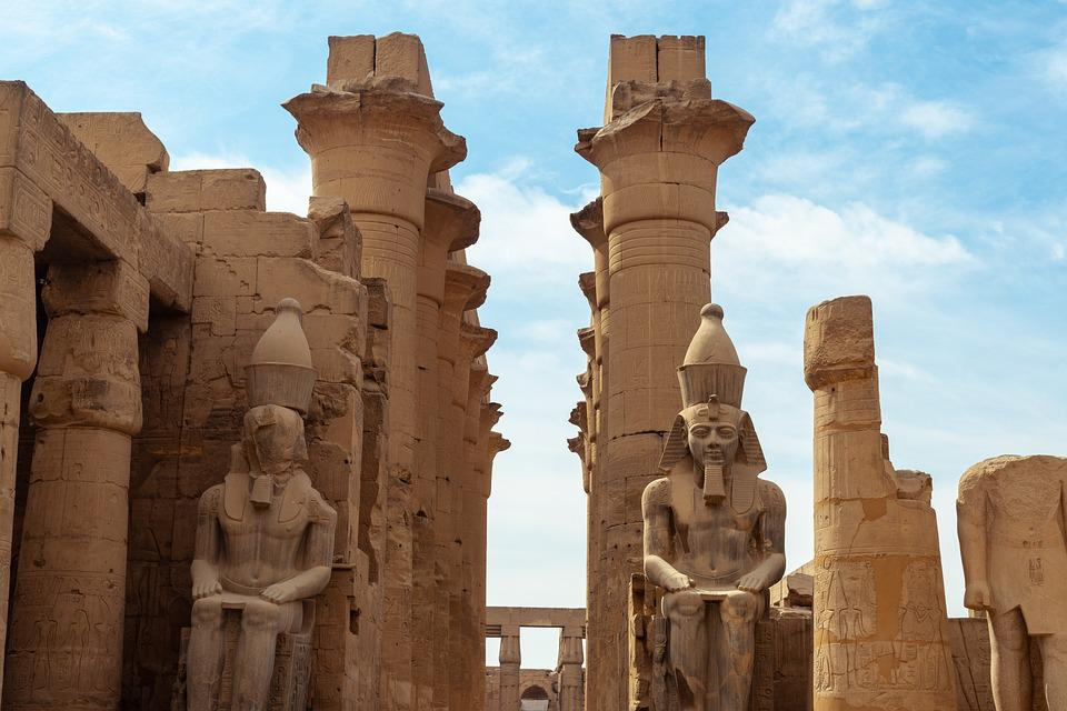 Temple, Luxor, Egypt, Sculpture, Pharaoh, Archeology