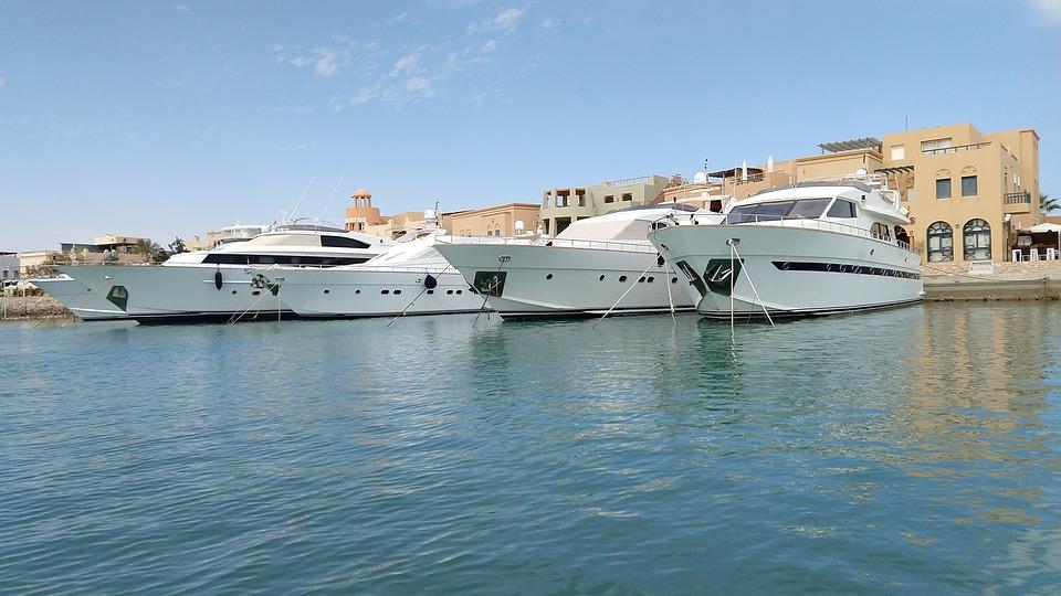 Egypt, Port, Marina, Yachts, Boats