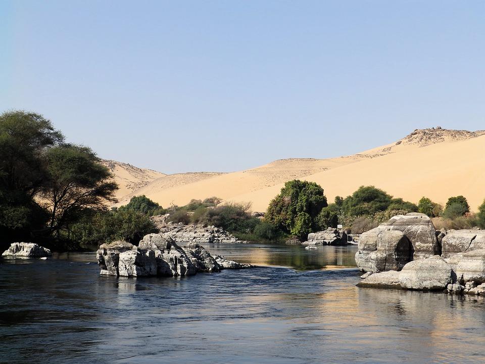 Free Photo Egypt Landscape River Desert Water Cataract Nil Max Pixel