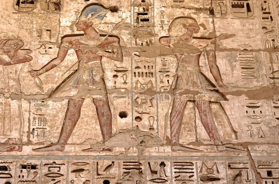 Egypt, Thebes, Medinet-habu, Temple, Ramses 3