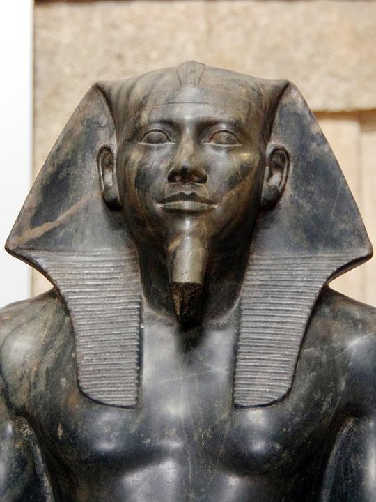 Egypt, Cairo, Museum, Statue, Amenophis, Antique