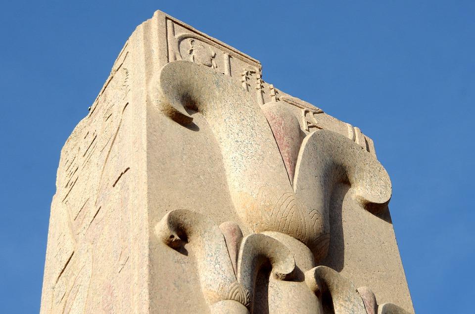 Egypt, Karnak, Luxor, Temple, Pillar, Engraving